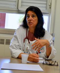 Francisca Delerue responsável pelo serviço do HGO