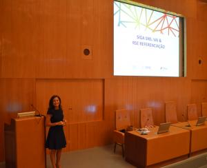 Teresa Pego, responsável pelo projecto na ACSS