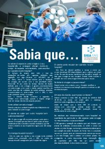 Página com informação sobre vales de cirurgia