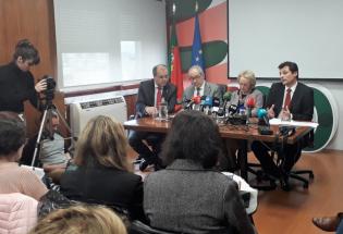 Conferencia de imprensa de balanço da atividade gripal com ACSS, DGS, INSA e INEM
